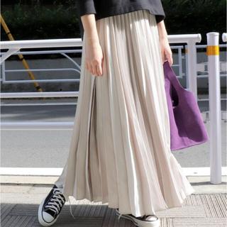 IENA SLOBE - SLOBE IENA サテンプリーツロングスカート