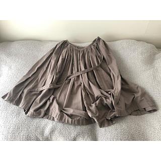 イデー(IDEE)のIDEE 「POOL」いろいろの服 ギャザーエプロン ミディアムグレー(ロングスカート)