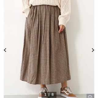 ロデオクラウンズワイドボウル(RODEO CROWNS WIDE BOWL)のRodeoCrowns 美品 マルチチェックボリュームスカート(ロングスカート)
