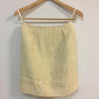 ジュエルチェンジズ(Jewel Changes)のJewel Changes  レモン色スカート(ひざ丈スカート)