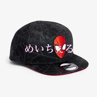 マーベル(MARVEL)の【新品】ブラック MARVEL スパイダーマンキャップ(ヤンガー)(帽子)
