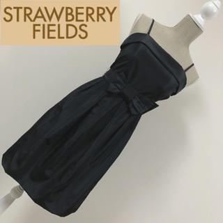 ストロベリーフィールズ(STRAWBERRY-FIELDS)のストロベリーフィールズ フォーマルワンピース ブラック(ミディアムドレス)