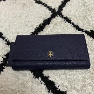 トミーヒルフィガー(TOMMY HILFIGER)のTommy Hilfiger 可愛いデザインの長財布 ネイビー 新品(長財布)