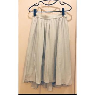 ジュエルチェンジズ(Jewel Changes)のミントカラーの膝丈スカート【ジュエルチェンジズ】(ひざ丈スカート)