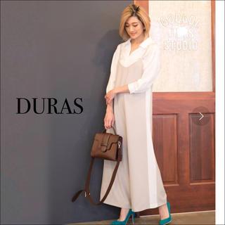 デュラス(DURAS)のDURAS 新品 サイドライン サロペット♡リゼクシー ロイヤルパーティー ザラ(オールインワン)