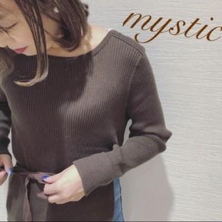 mystic - リボン付きサイドスリットリブニット❤︎ラスト一点