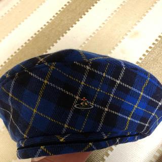 ヴィヴィアンウエストウッド(Vivienne Westwood)のVivienne Westwood ベレー帽 青(ハンチング/ベレー帽)