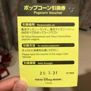 ディズニー(Disney)の引換券 ポップコーン ディズニー(フード/ドリンク券)