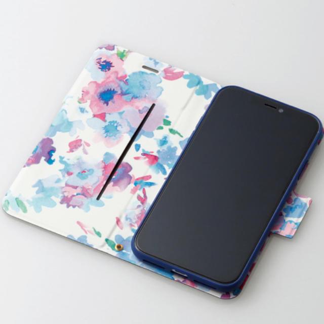 ELECOM(エレコム)のiPhoneXRケース手スリムソフトレザーカバー磁石付き 【ネイビー】 スマホ/家電/カメラのスマホアクセサリー(iPhoneケース)の商品写真