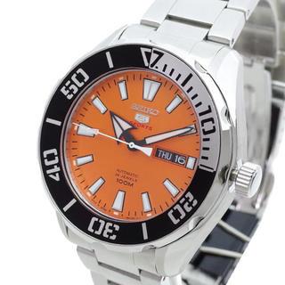 セイコー(SEIKO)のセイコー SEIKO 腕時計 メンズ 自動巻き オレンジ シルバー(腕時計(アナログ))