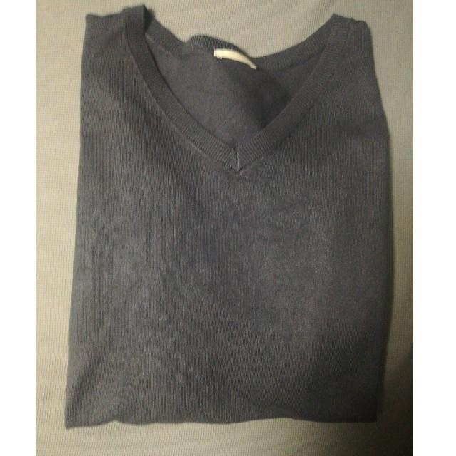GU(ジーユー)のVネックセーター レディースのトップス(ニット/セーター)の商品写真