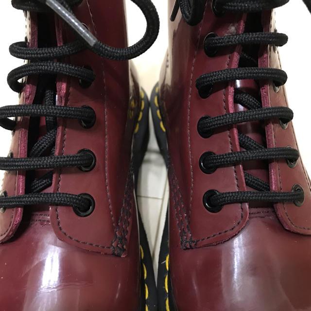 Dr.Martens(ドクターマーチン)の【美品】Dr.Martens ドクターマーチン 8ホールブーツ ボルドー レディースの靴/シューズ(ブーツ)の商品写真