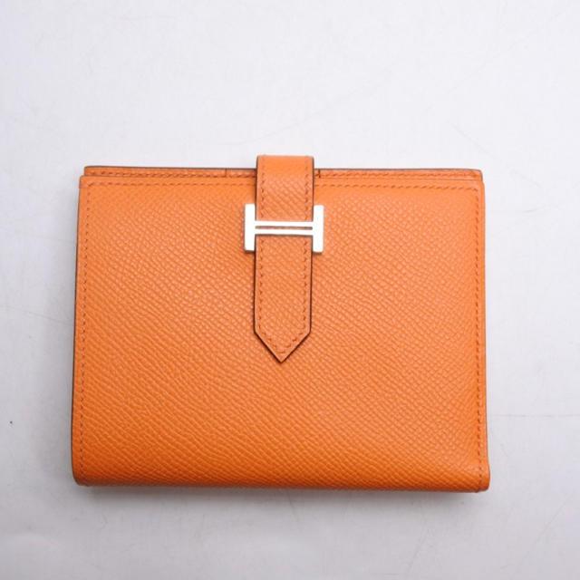 Hermes(エルメス)のHERMES エルメス ベアンコンパクト オレンジ 二つ折り 財布 エプソン レディースのファッション小物(財布)の商品写真