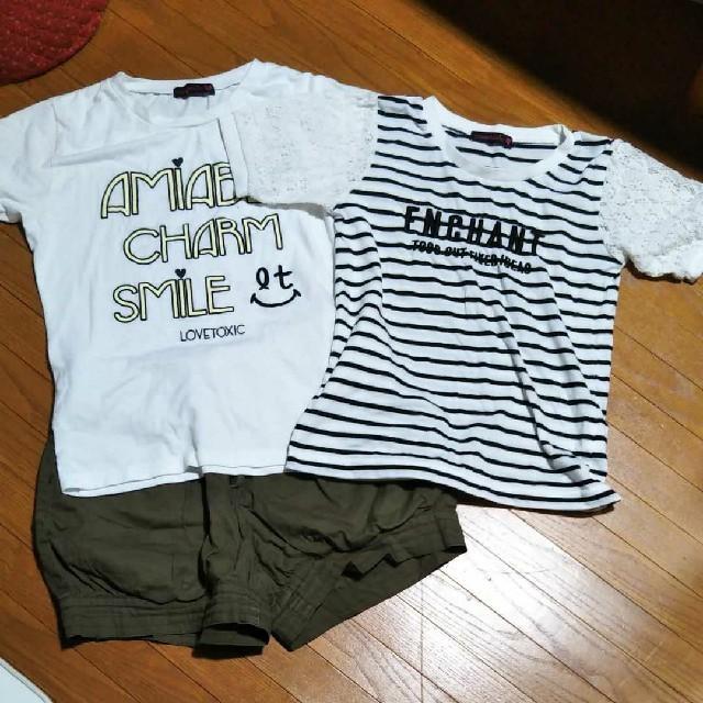 140センチ まとめ売り キッズ/ベビー/マタニティのキッズ服女の子用(90cm~)(Tシャツ/カットソー)の商品写真