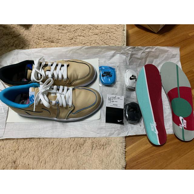 NIKE(ナイキ)のNIKE AIRJORDAN 1 LOW SB デザートオレ 26.5cm メンズの靴/シューズ(スニーカー)の商品写真