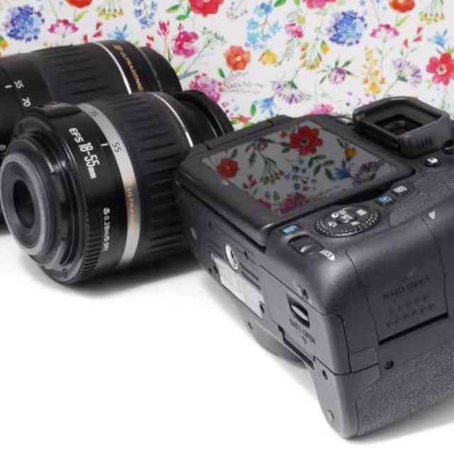 Canon(キヤノン)の【超人気★】キャノン Canon EOS 8000D ダブルレンズ セット スマホ/家電/カメラのカメラ(デジタル一眼)の商品写真