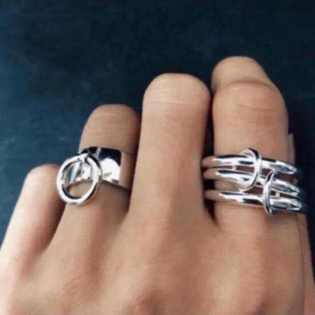 シルバー925 3連リング ラスト1 メンズのアクセサリー(リング(指輪))の商品写真
