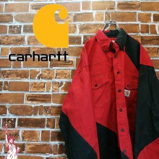 カーハート(carhartt)の【激レア】【バイカラー】カーハート☆ロゴタグ ビッグサイズ シャツ(シャツ)