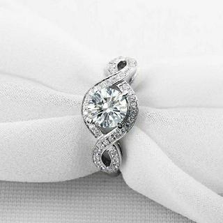 HARRY WINSTON - 最高級合成ダイヤモンド/SONAダイヤモンド/リリークラスターモチーフリング
