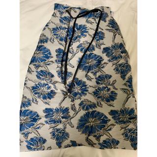 トゥモローランド(TOMORROWLAND)のTomorrowland 刺繍ロングスカート(ロングスカート)