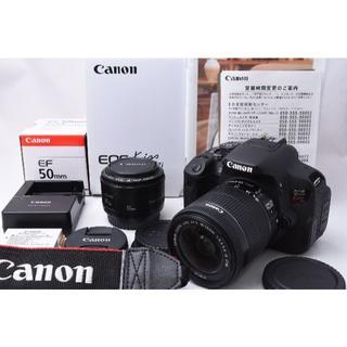 キヤノン(Canon)の★美品★ CANON EOS Kiss X7i ダブルレンズセット(デジタル一眼)