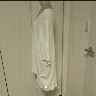 SCOT CLUB - ★美品★グランターブル★ニット★チュニック★白★八分袖★