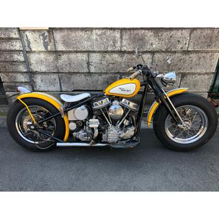 ハーレーダビッドソン(Harley Davidson)のロデオモーターサイクル セル搭載S&Sパンヘッド ボバー(車体)