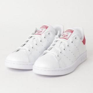 アディダス(adidas)のアディダス スタンスミス J レディース スニーカー ホワイト/ピンク(スニーカー)