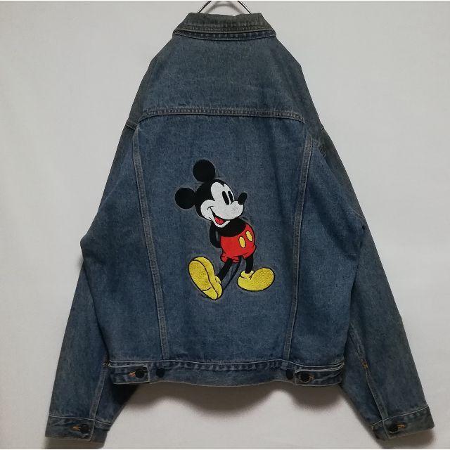 Disney(ディズニー)のディズニー ミッキー デニムジャケット メンズのジャケット/アウター(Gジャン/デニムジャケット)の商品写真