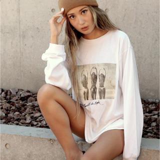 アナップ(ANAP)のフォトプリントロングTシャツ(Tシャツ/カットソー(七分/長袖))