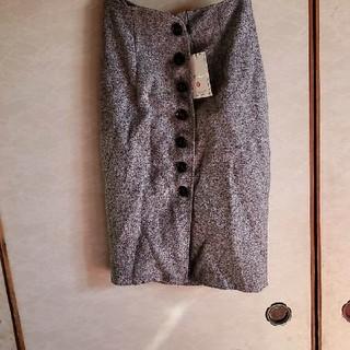新品グレータイトスカート(ひざ丈スカート)