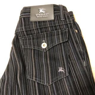 バーバリーブラックレーベル(BURBERRY BLACK LABEL)の美品 BURBERRY ブラックレーベル コーデュロイ ストライプ パンツ(デニム/ジーンズ)