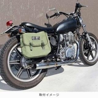 カワサキ(カワサキ)の絶版 立花 アーミーサドルバッグ(装備/装具)