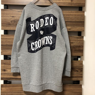 RODEO CROWNS WIDE BOWL - ロデオクラウンズ トレーナーワンピ丈 バンダナ柄