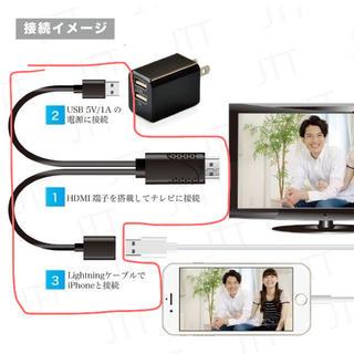 iPhone iPad ミラーリング 有線 変換 出力  TV(映像用ケーブル)