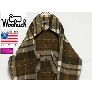 ウールリッチ(WOOLRICH)の70'S WOOLRICH USA ウールシャツジャケット(カバーオール)