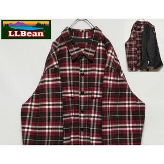 エルエルビーン(L.L.Bean)のL.L.BEAN 裏キルティング チェック ビッグシルエット シャツジャケット(カバーオール)