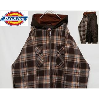 Dickies - Dickies 裏キルティング チェック ビッグシルエット シャツジャケット