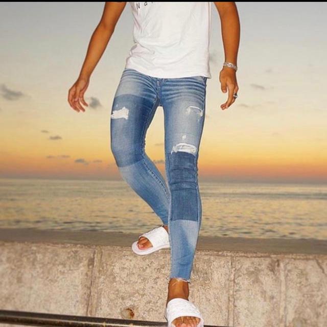 American Eagle(アメリカンイーグル)の人気モデル アメリカンイーグル ダメージジェギング 00 ショート メンズのパンツ(デニム/ジーンズ)の商品写真