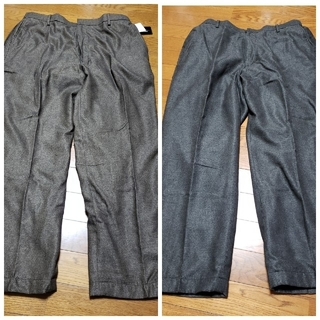 【最終価格】メンズパンツ2枚セット(ブラウン系グレー系)(その他)