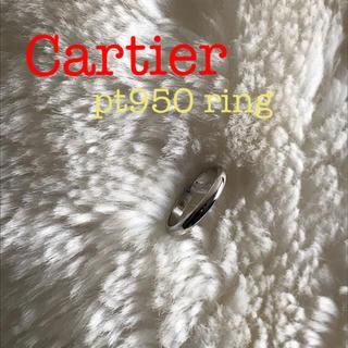 カルティエ(Cartier)のCartier ☺︎ カルティエ プラチナ シンプル リング PT950(リング(指輪))