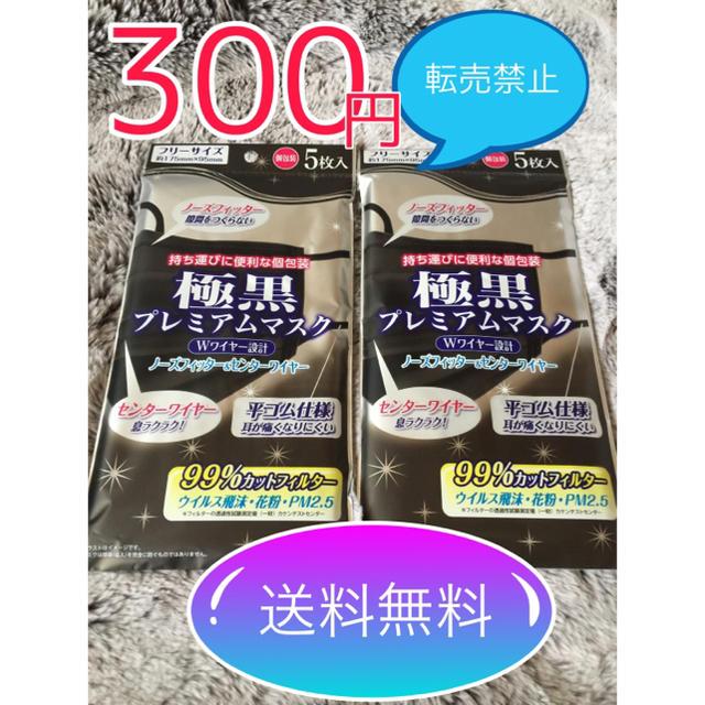 超 立体 マスク - 《送料無料》極黒 プレミアムマスク 10枚個包装 安心安全なラクマパック送料無料の通販