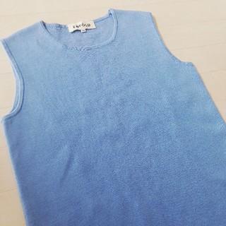 ENFOLD - エンフォルド ENFOLD ワンピース ブルー 水色 ノースリーブワンピース