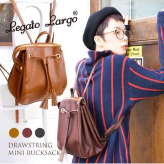 Legato Largo - Legato Largo(レガートラルゴ):巾着タッセル合皮リュック