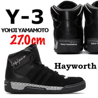 ワイスリー(Y-3)のY-3 ワイスリー スニーカー HAYWORTH ヘイワース ブラック 27.0(スニーカー)