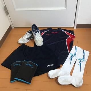 asics - 最終③中古 レディース バレーボール 5点セット バレーシューズ23.5cm