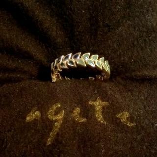 アガット(agete)のアガット リーフモチーフのK10ピンキーリング 3号(リング(指輪))