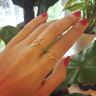 ザラ(ZARA)の縛りデザインリング(リング(指輪))