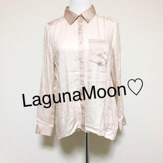 ラグナムーン(LagunaMoon)のLagunaMoon☆ピンクベージュシャツ(シャツ/ブラウス(長袖/七分))