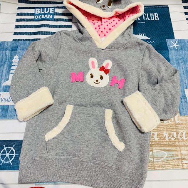 mikihouse(ミキハウス)のミキハウス うさこちゃんボアトレーナー 120 キッズ/ベビー/マタニティのキッズ服女の子用(90cm~)(ジャケット/上着)の商品写真